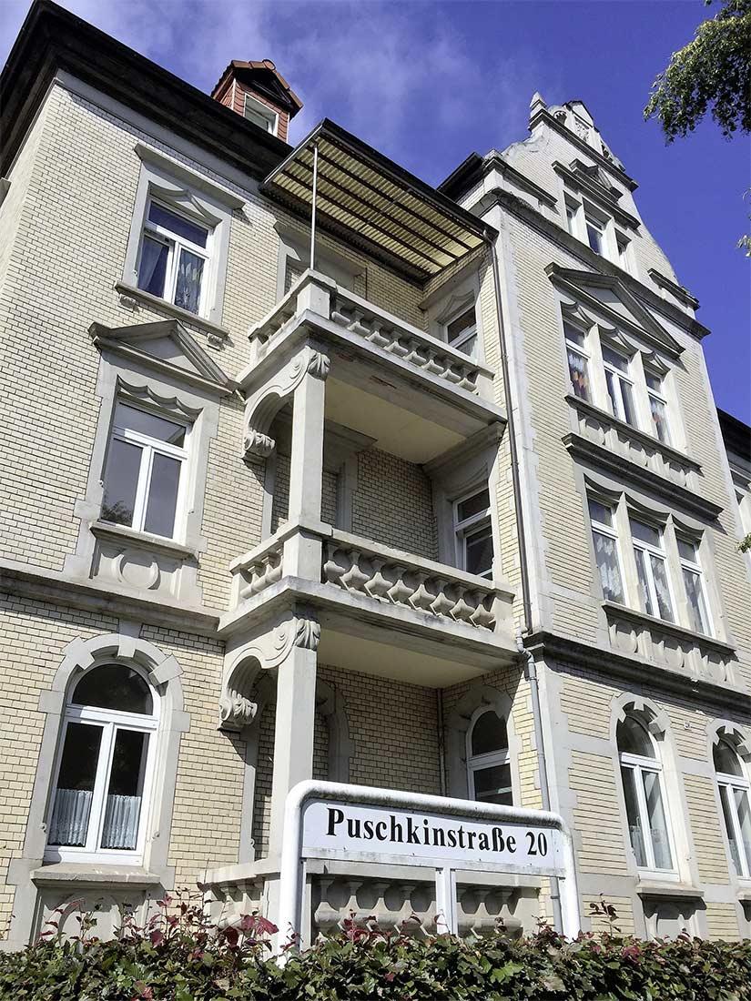 Wohnanlage Puschkinstraße Außenansicht